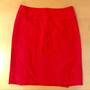Ann Taylor Red pencil skirt size 8